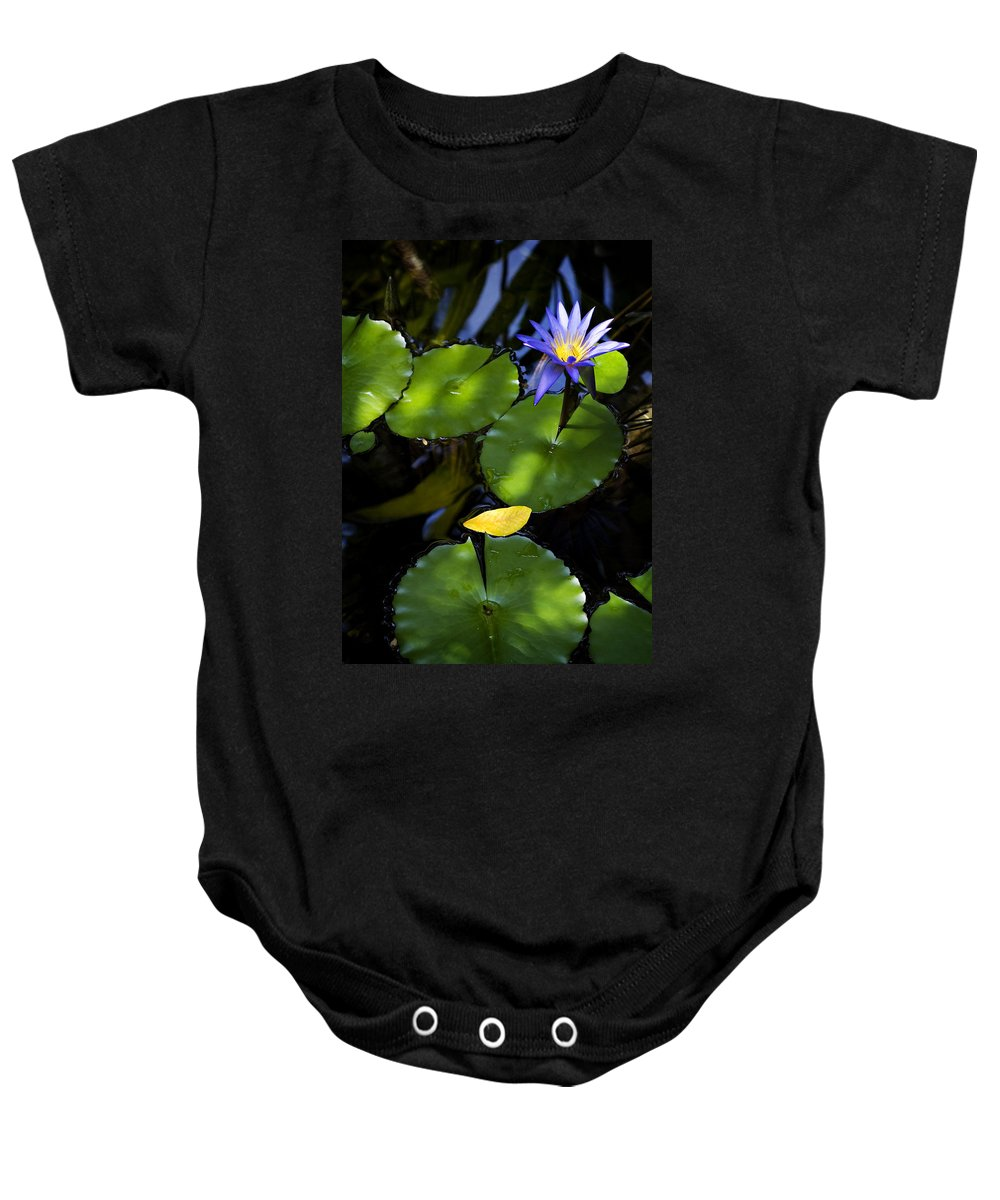Lotus Baby Onesie featuring the photograph Dreamy Lotus by Marilyn Hunt