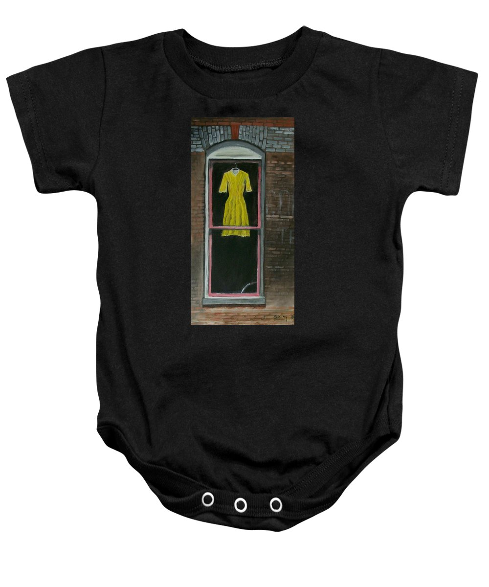 Original Baby Onesie featuring the painting Dress Up by Stephen King