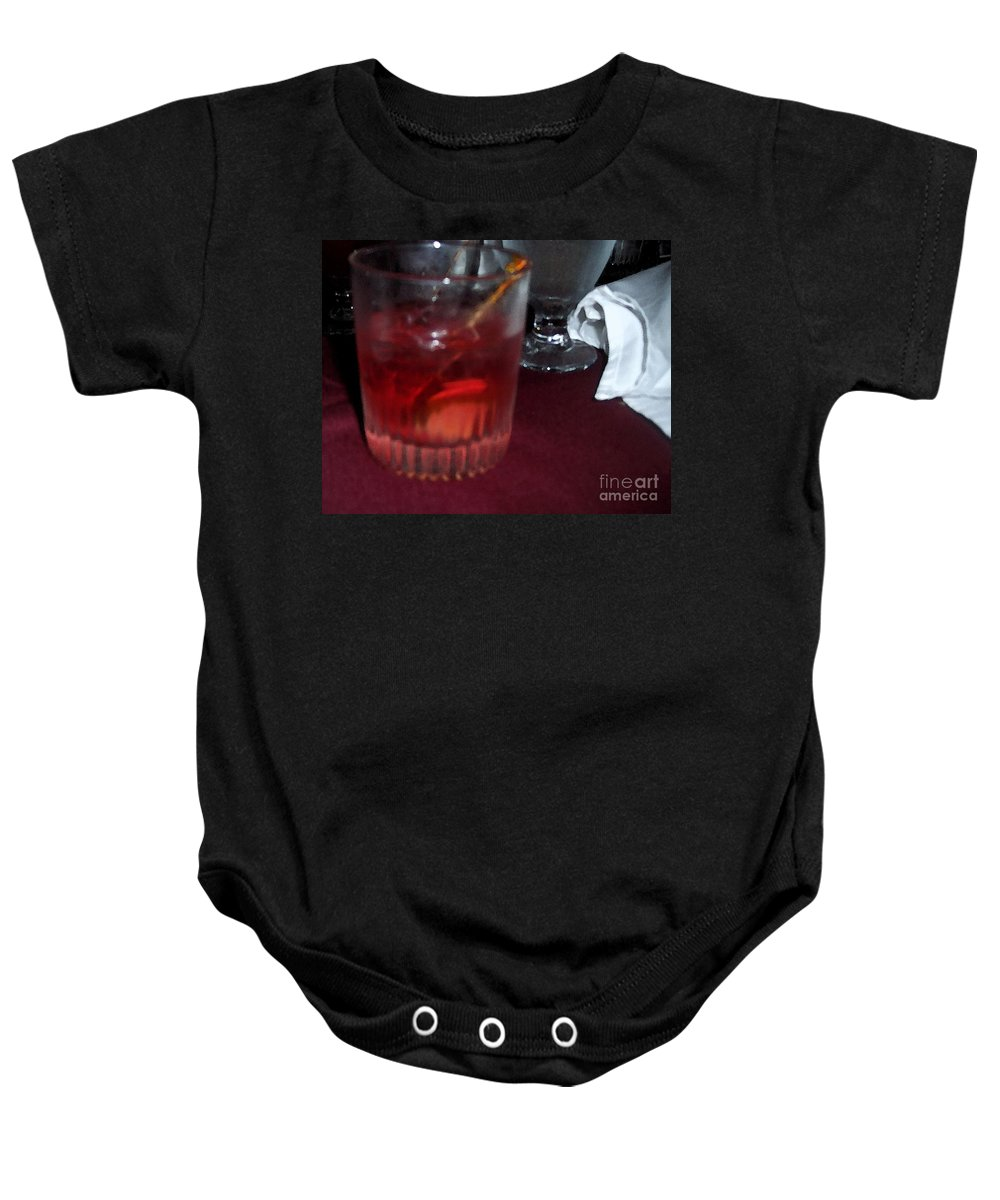 Drinks Baby Onesie featuring the photograph Drink Up by Debbi Granruth
