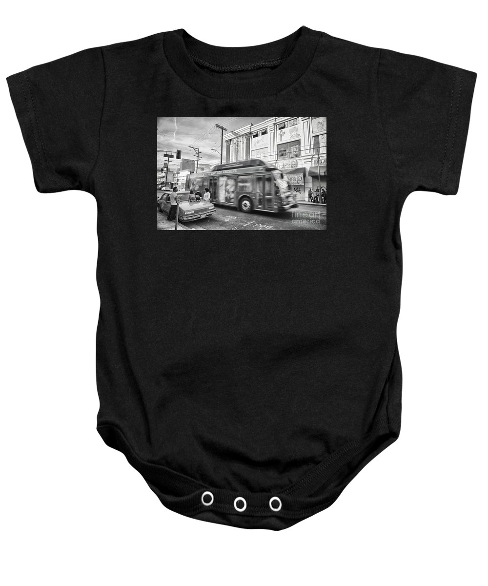 Product Placement Baby Onesie featuring the photograph Drive-by Product Placement by Davy Cheng