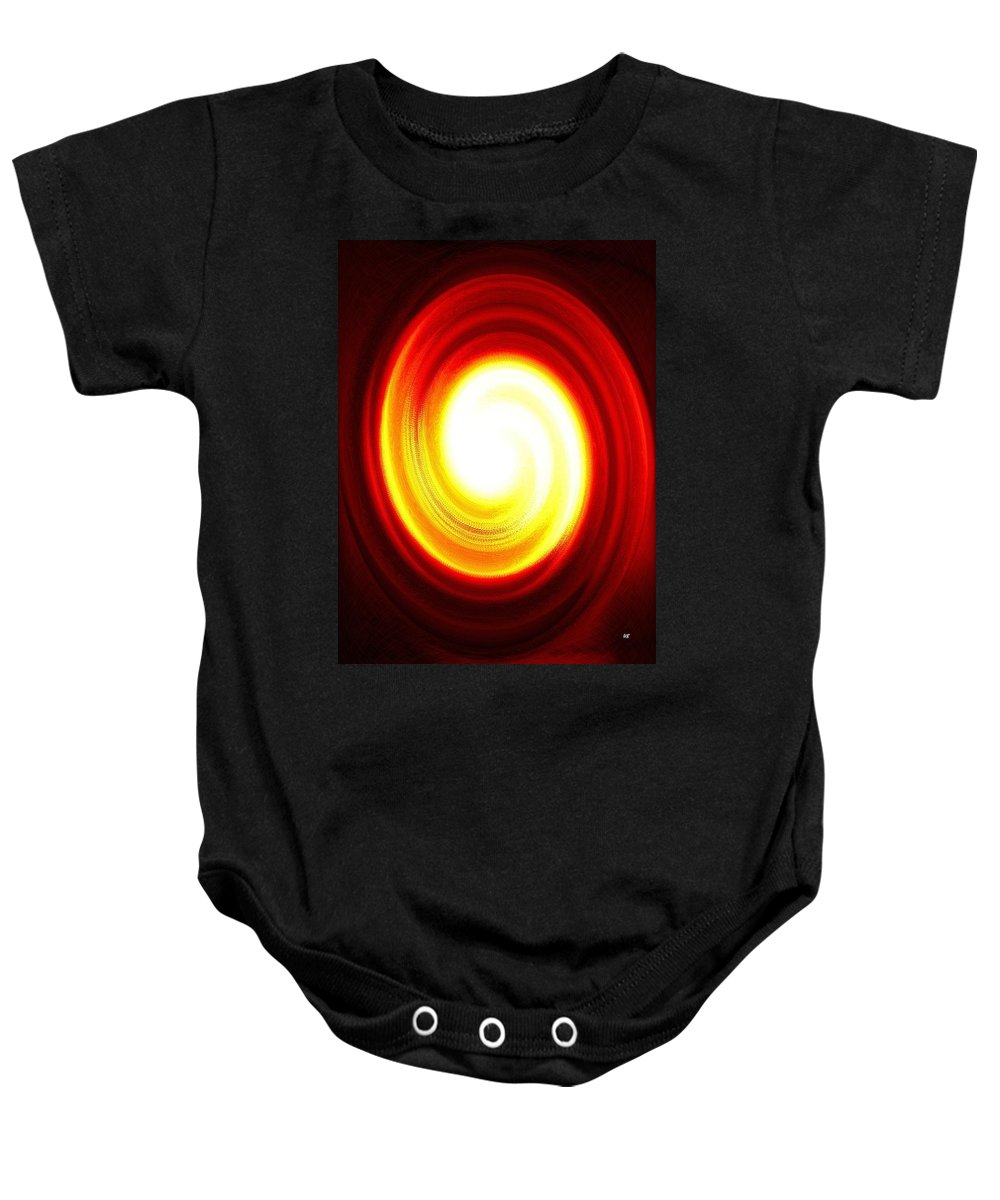 Abstract Baby Onesie featuring the digital art Driving Force by Will Borden