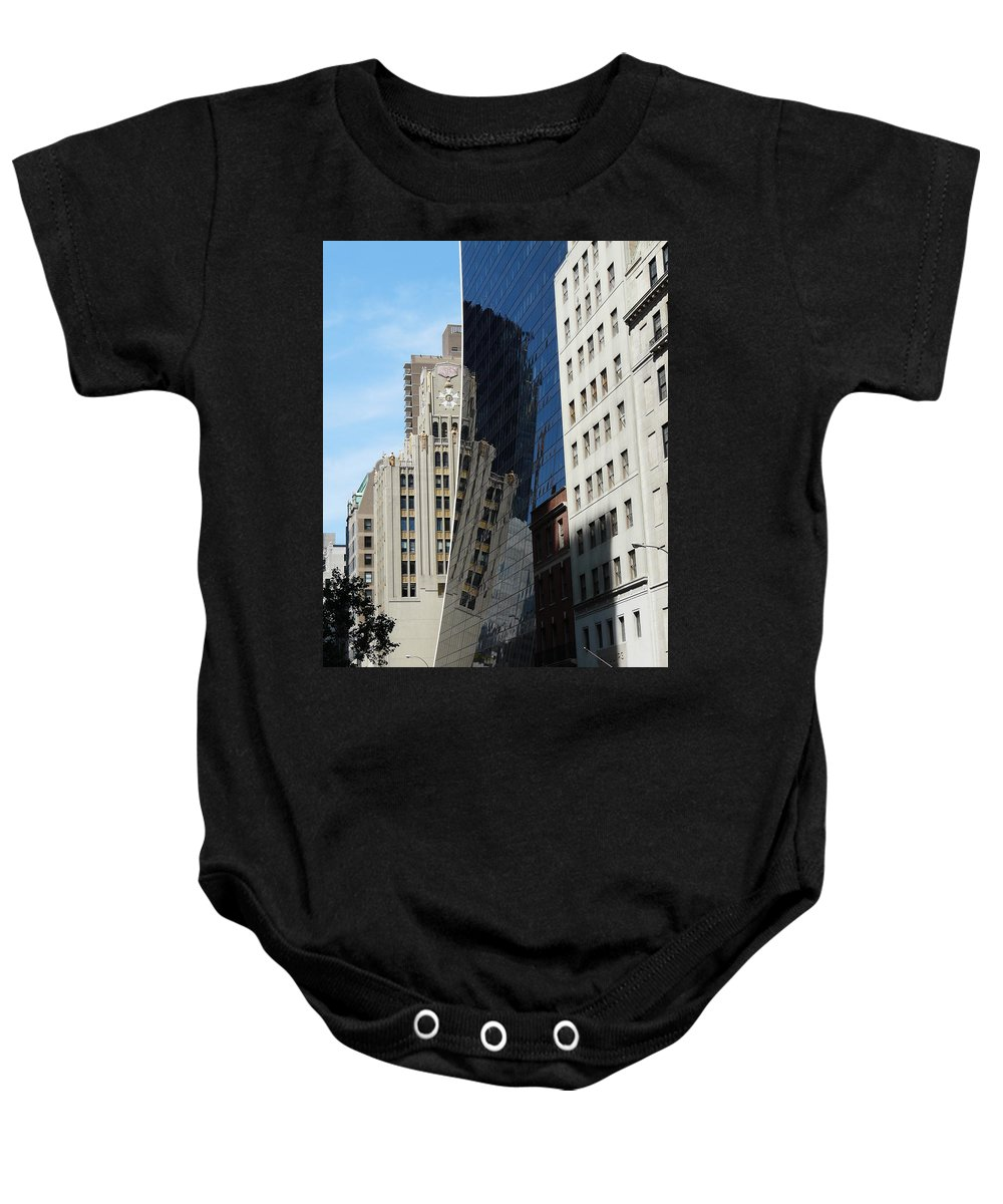 New York Baby Onesie featuring the photograph Drowning By Reflection by Valerie Ornstein
