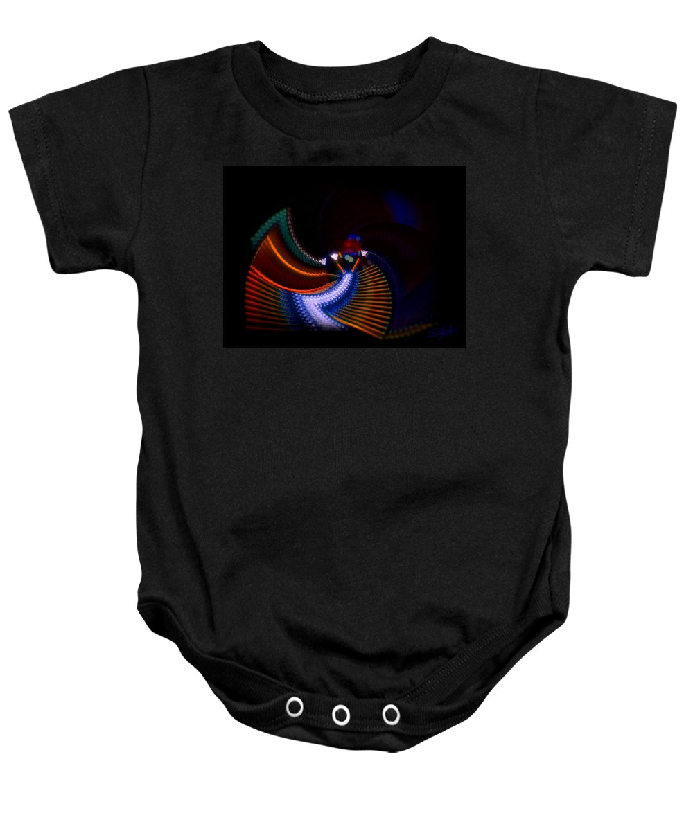 Chaos Baby Onesie featuring the photograph Drummer Dance by Charles Stuart