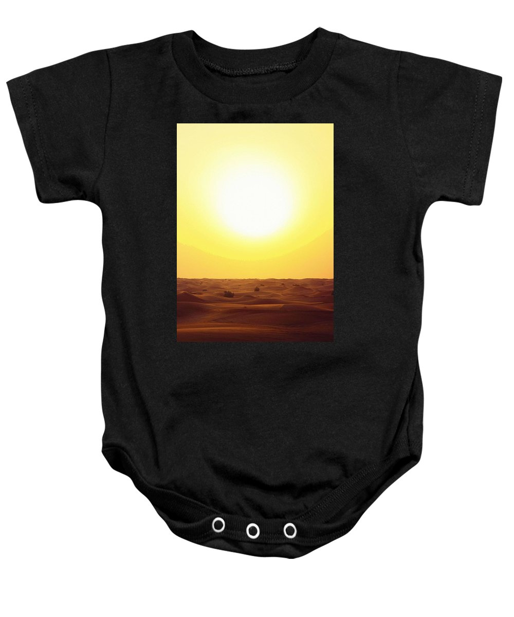 Nature Baby Onesie featuring the painting Dubai, United Arab Emirates by Celestial Images