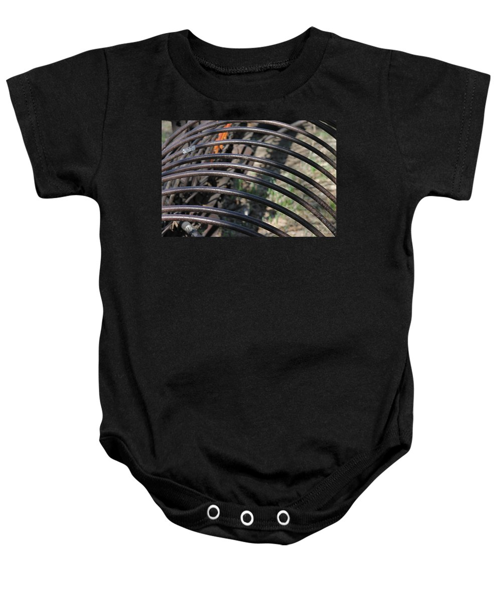 Agriculture Baby Onesie featuring the photograph Dump Rake by Wayne Williams