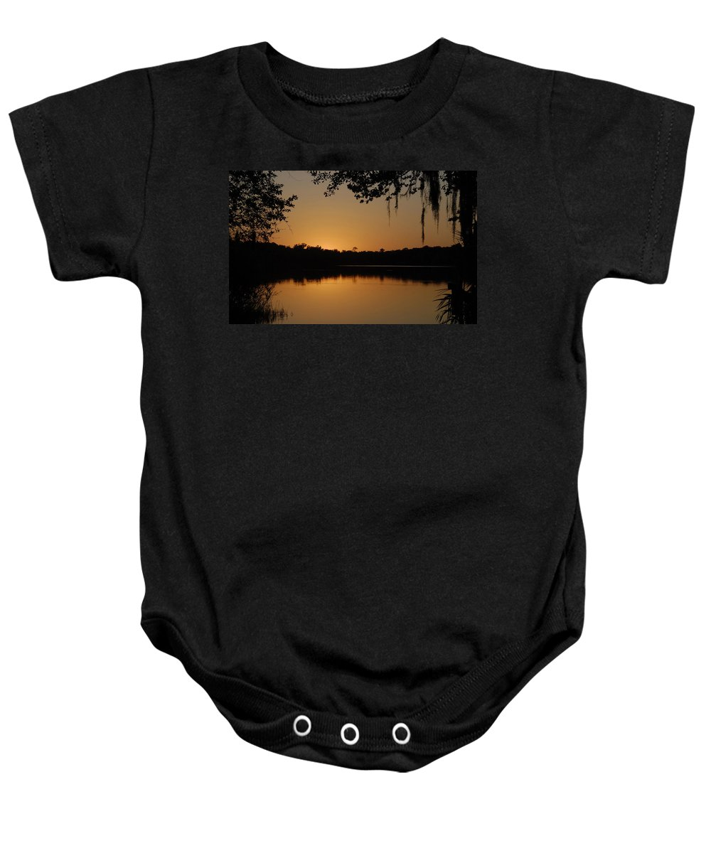 Dusk Baby Onesie featuring the photograph Dusk by David Lee Thompson