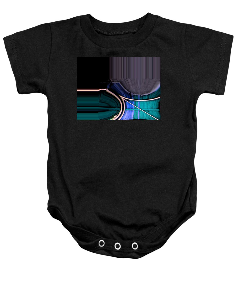 Abstract Baby Onesie featuring the digital art Dynamite Colors by Lenore Senior