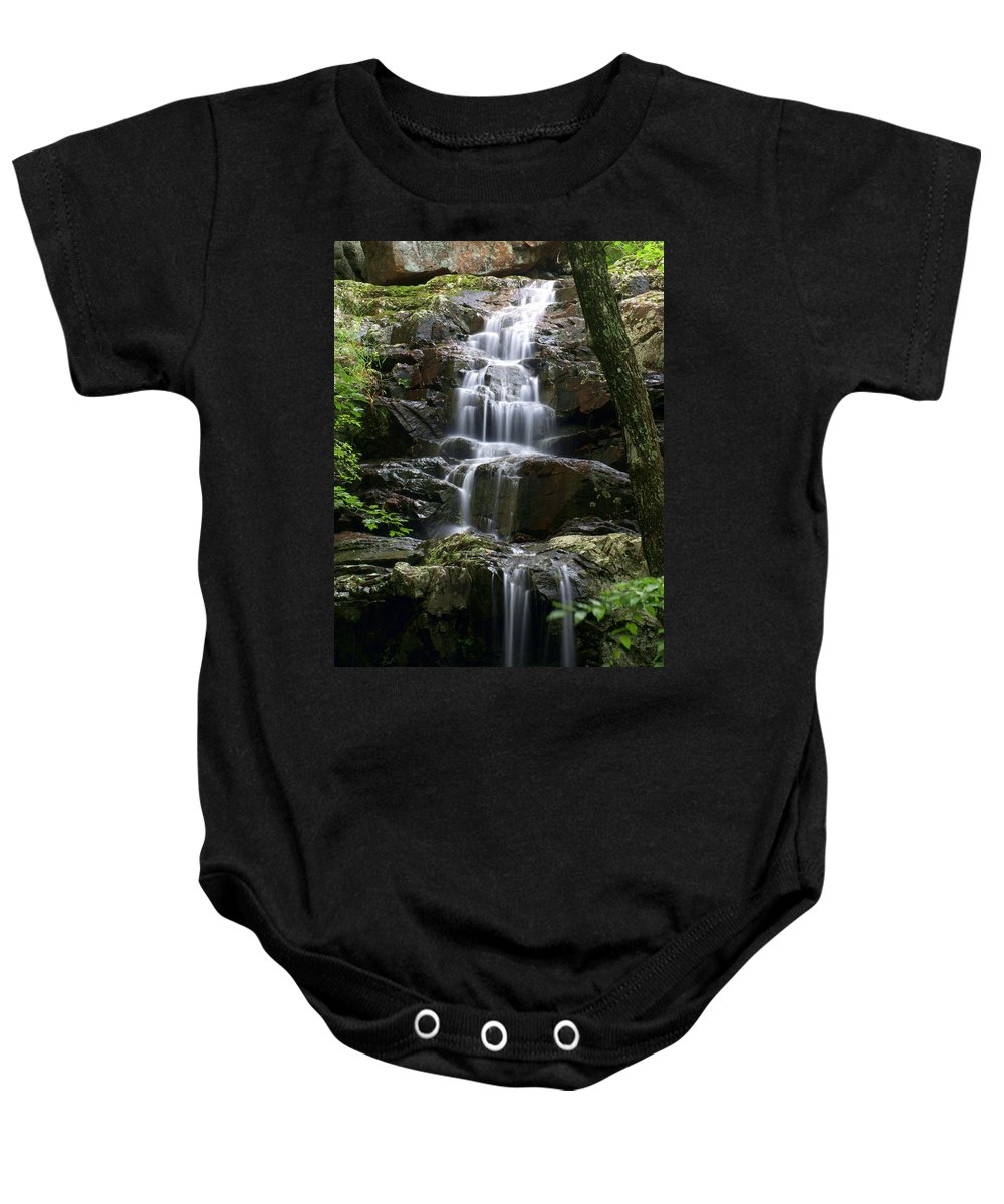 Waterfalls Baby Onesie featuring the photograph E Falls by Marty Koch