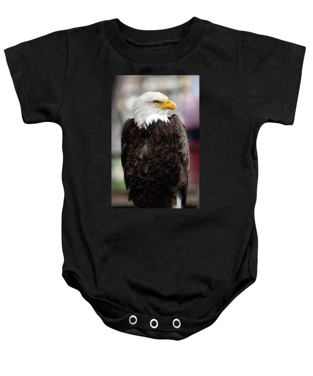 Eagle Baby Onesie featuring the photograph Eagle by Doug Gibbons