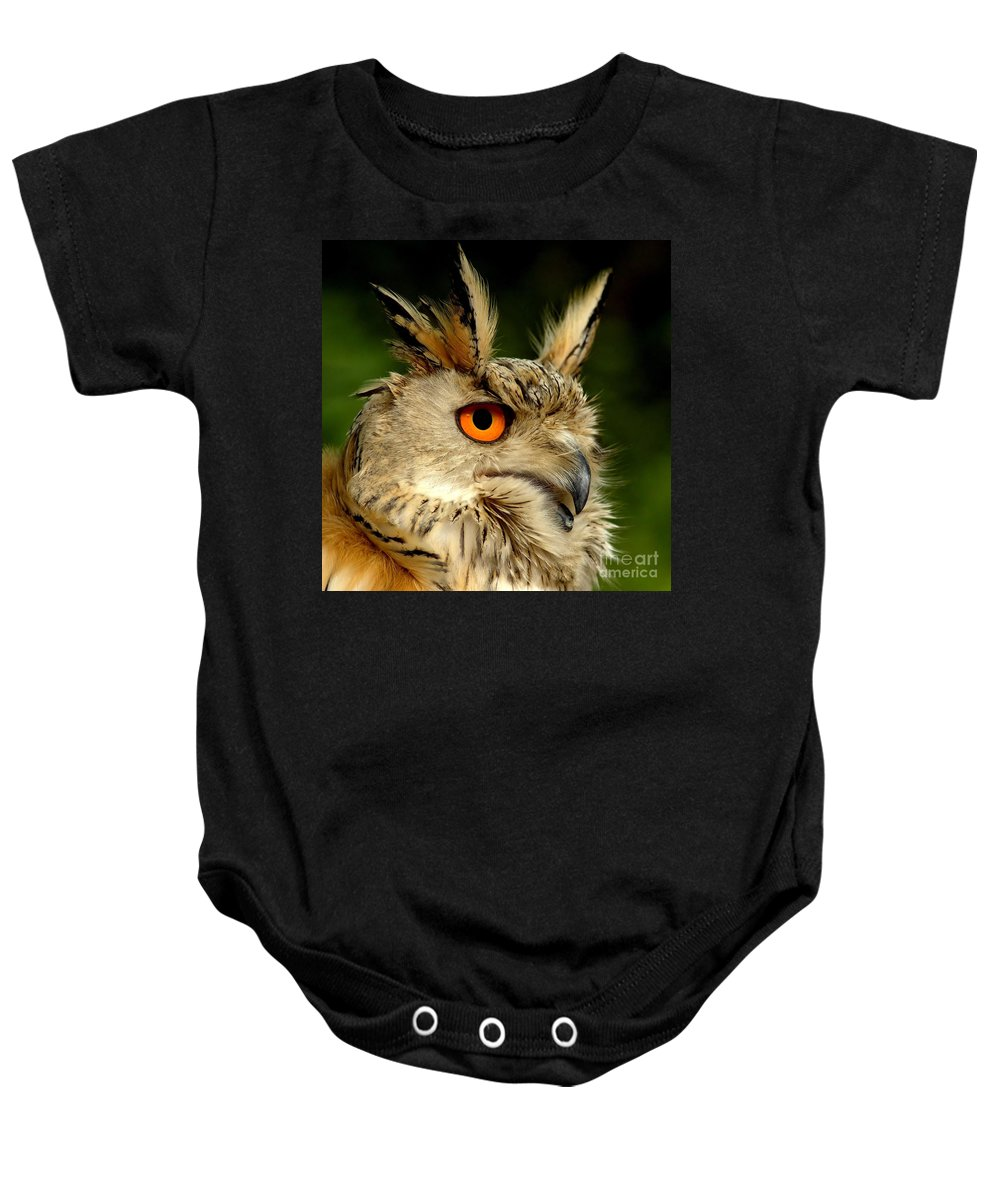 Wildlife Baby Onesie featuring the photograph Eagle Owl by Jacky Gerritsen