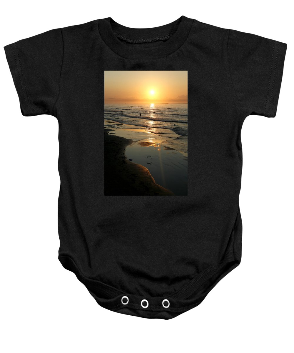Water Baby Onesie featuring the photograph Early Morning Fishing by Marilyn Hunt