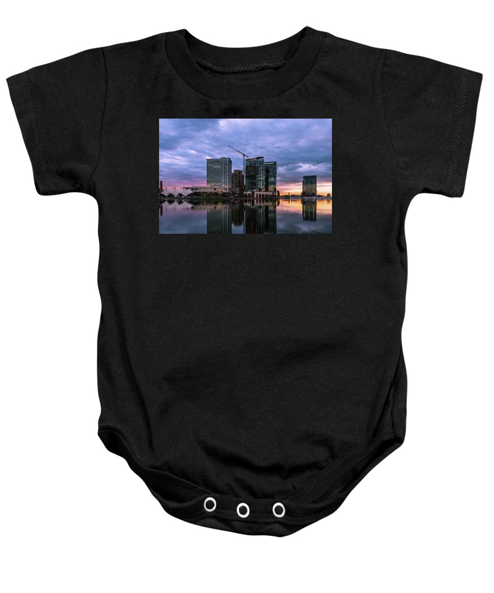 Baltimore Baby Onesie featuring the photograph Early Morning by Jim Archer