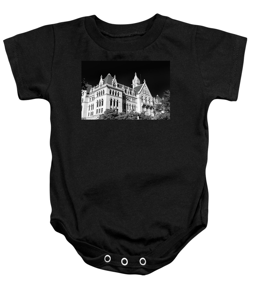 Buffalo Architecrure Baby Onesie featuring the photograph Ecc 0946b by Guy Whiteley