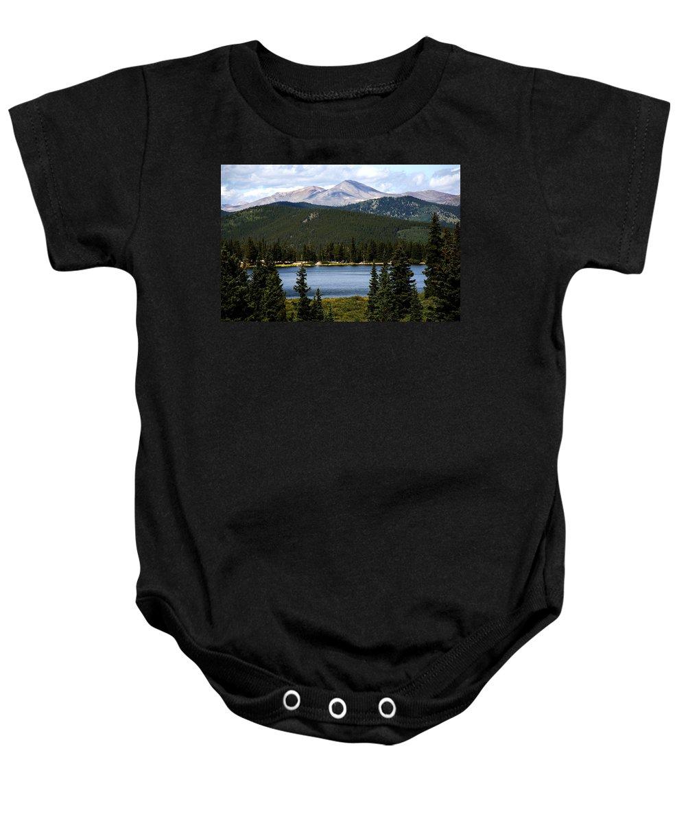 Colorado Baby Onesie featuring the photograph Echo Lake Colorado by Marilyn Hunt