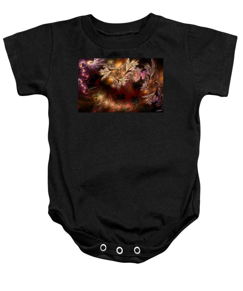 Abstract Baby Onesie featuring the digital art Ecological Hope by Casey Kotas