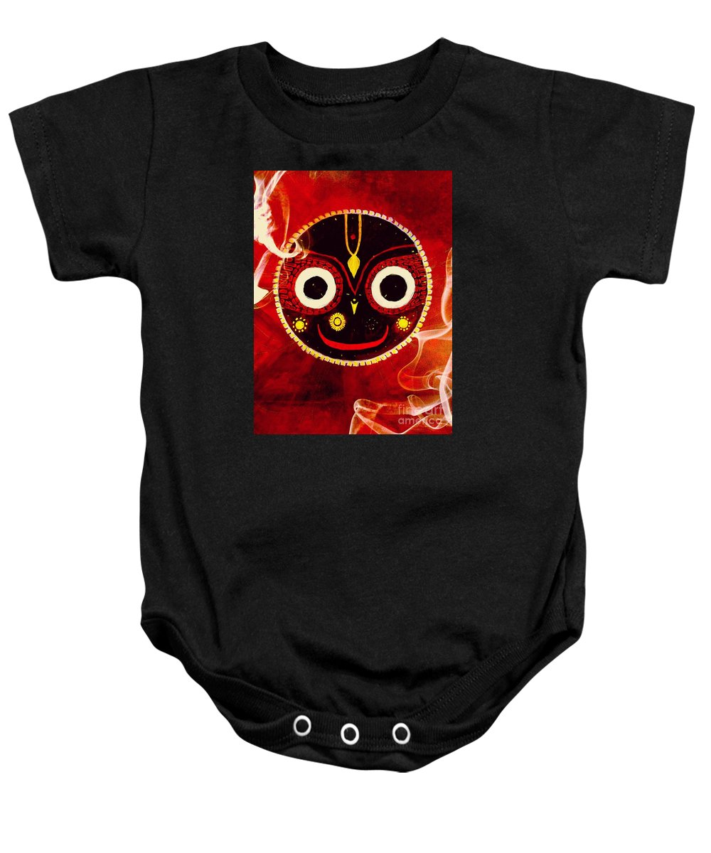 Ecstasy Baby Onesie featuring the painting Ecstasy In Love by Michael African Visions