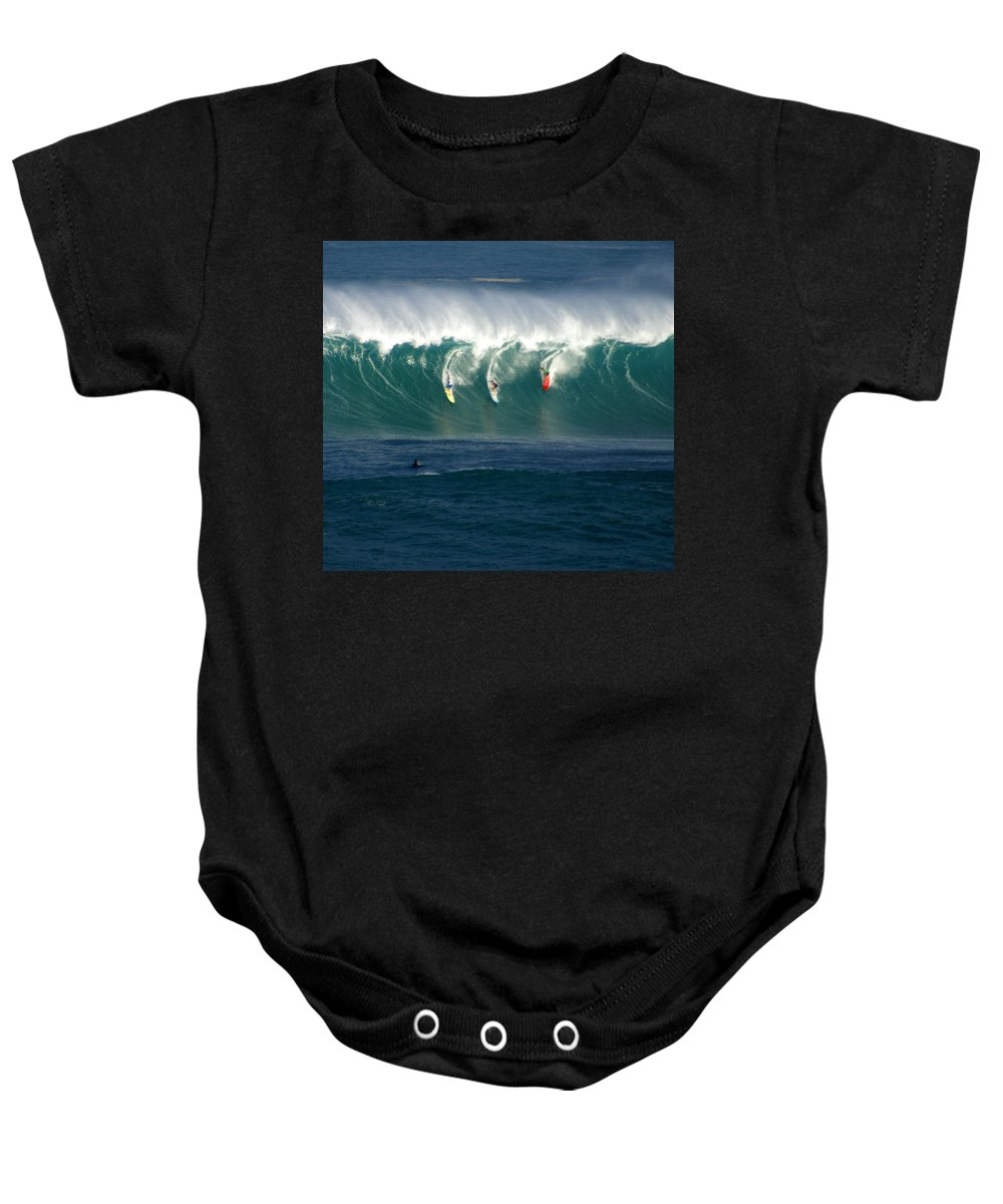 Hawaii Baby Onesie featuring the photograph Eddie Would Go by Kevin Smith