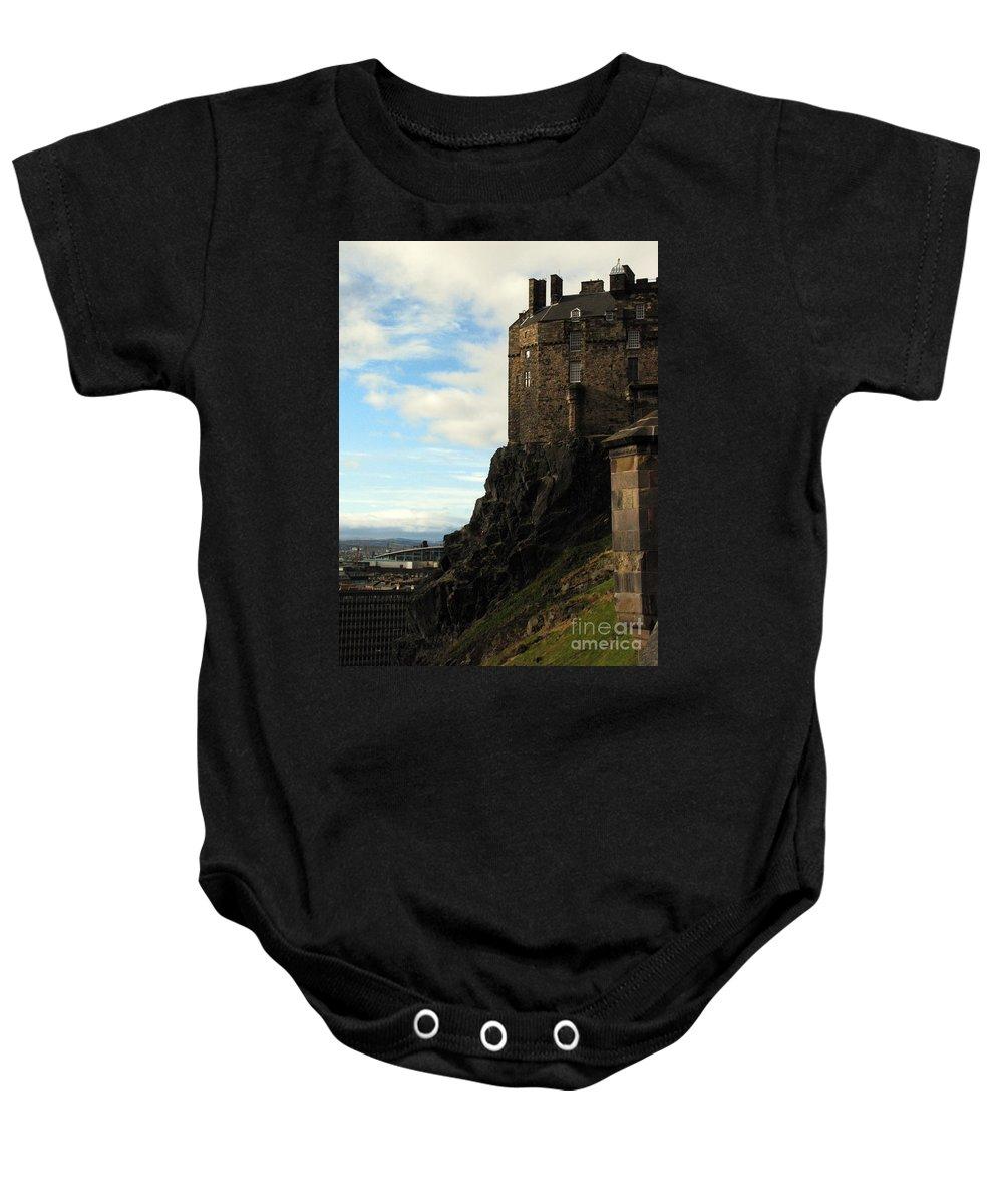 Castle Baby Onesie featuring the photograph Edinburgh Castle by Amanda Barcon