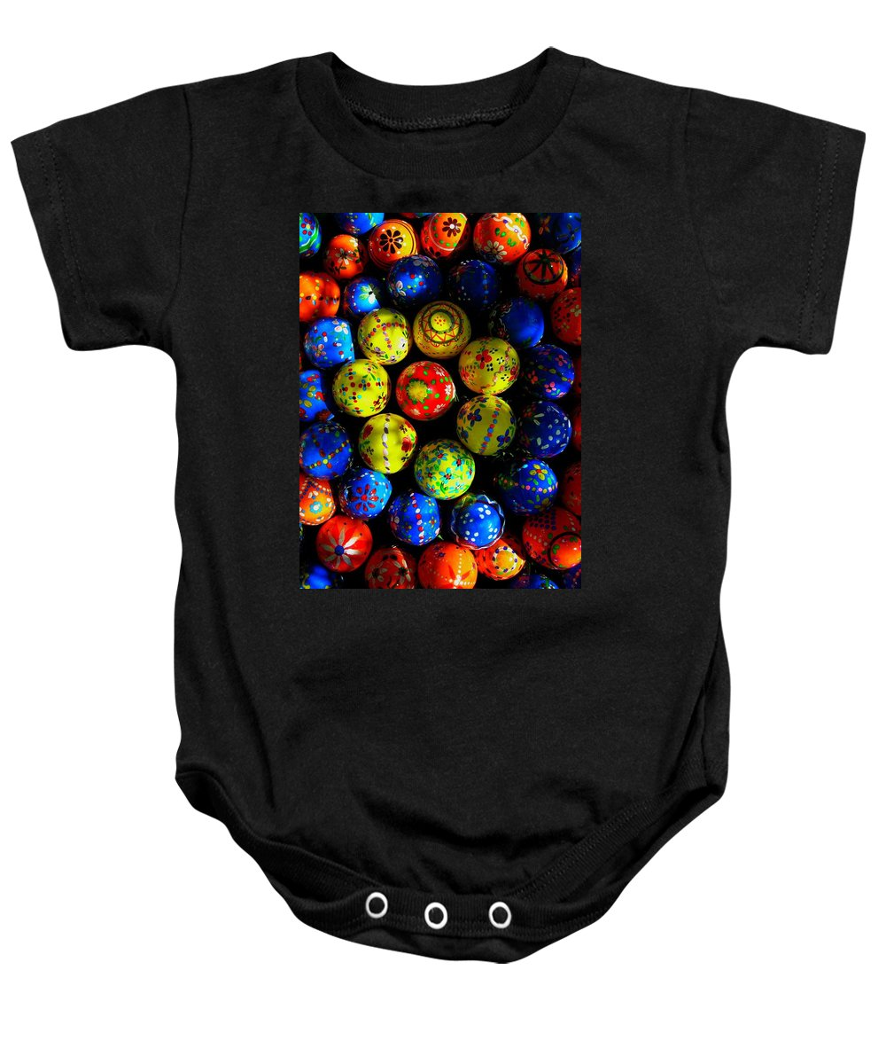 Easter Baby Onesie featuring the photograph Egg - Parade by Juergen Weiss