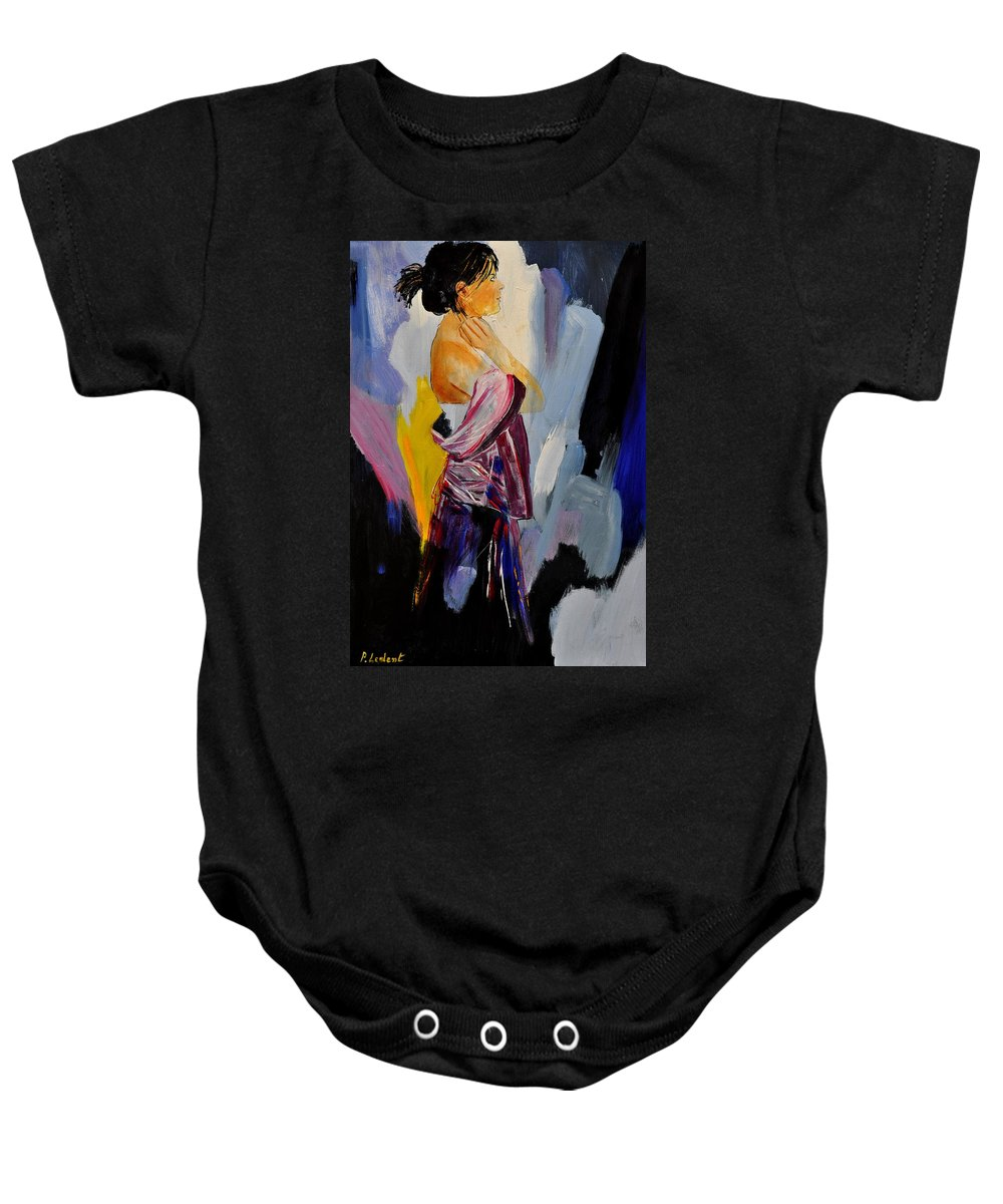 Girl Baby Onesie featuring the painting Eglantine 570150 by Pol Ledent