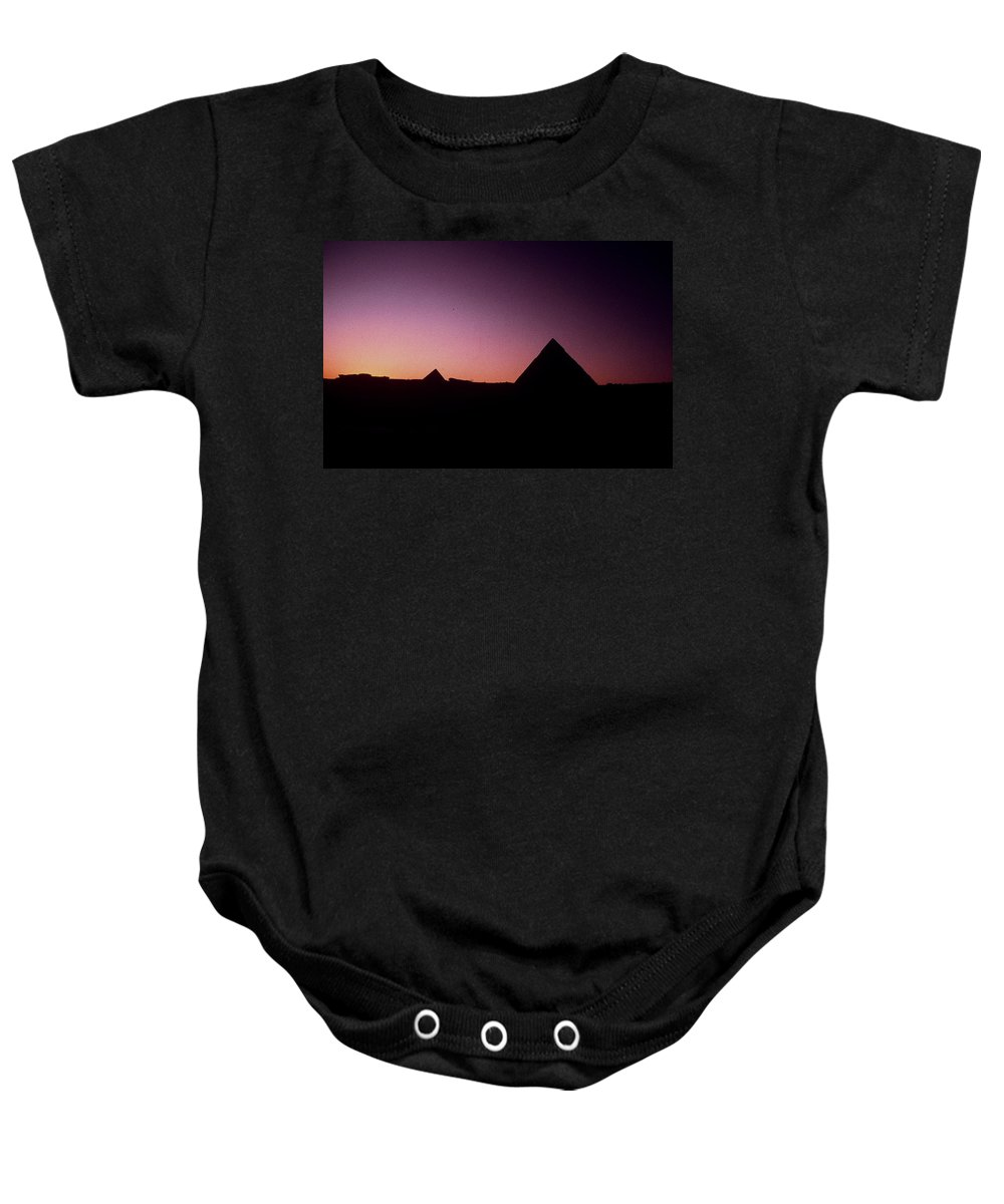 Egypt Baby Onesie featuring the photograph Egyptian Sunset by Gary Wonning