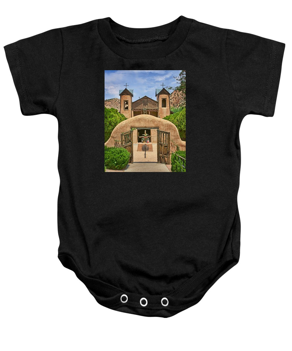 New Mexico Baby Onesie featuring the photograph El Santuario De Chimayo #2 by Nikolyn McDonald