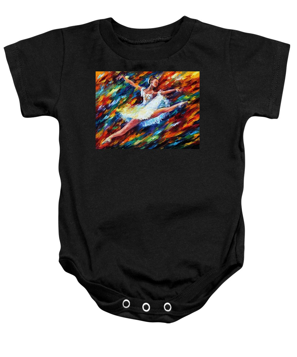 Afremov Baby Onesie featuring the painting Elation by Leonid Afremov