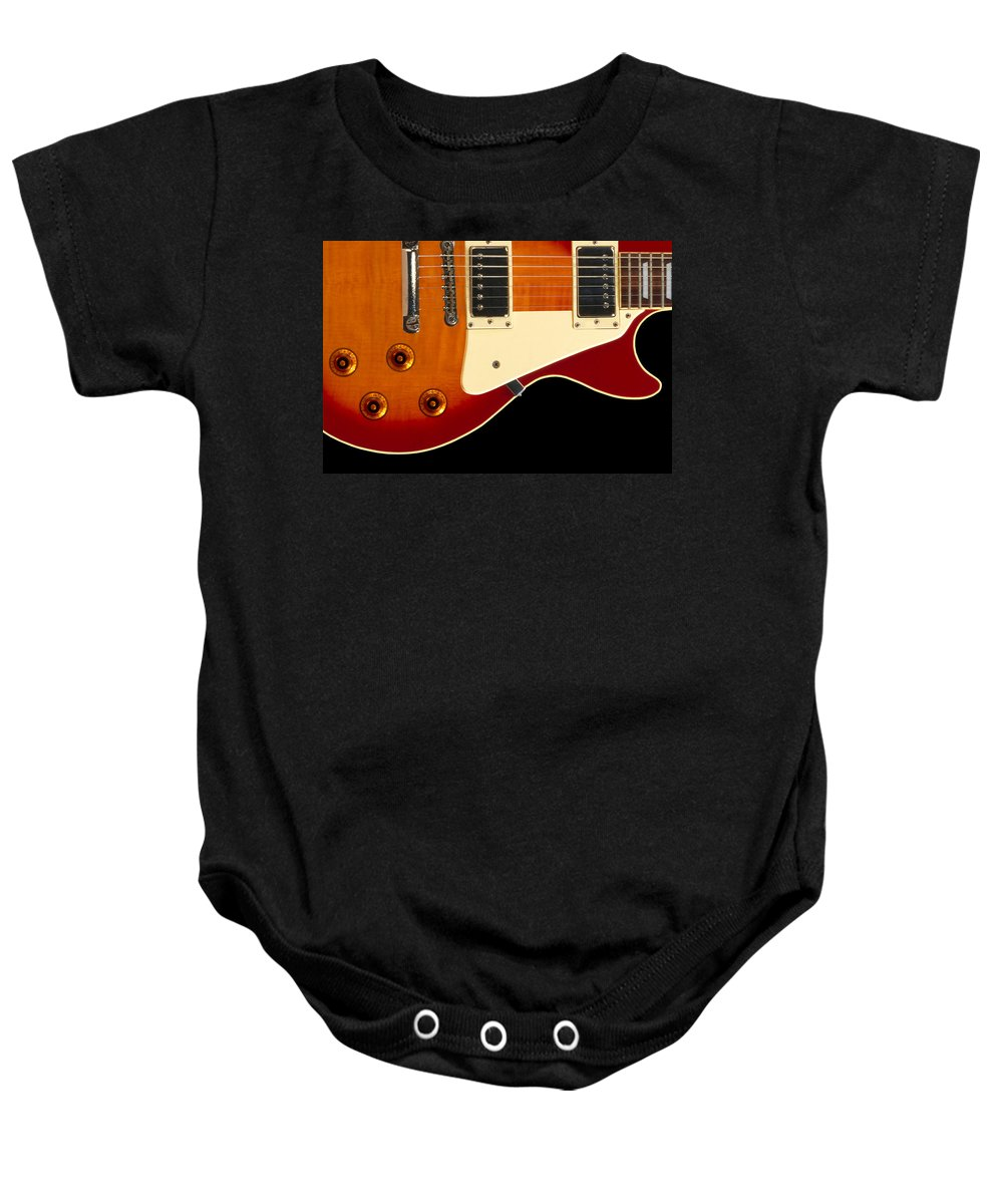 Rock And Roll Baby Onesie featuring the photograph Electric Guitar 4 by Mike McGlothlen