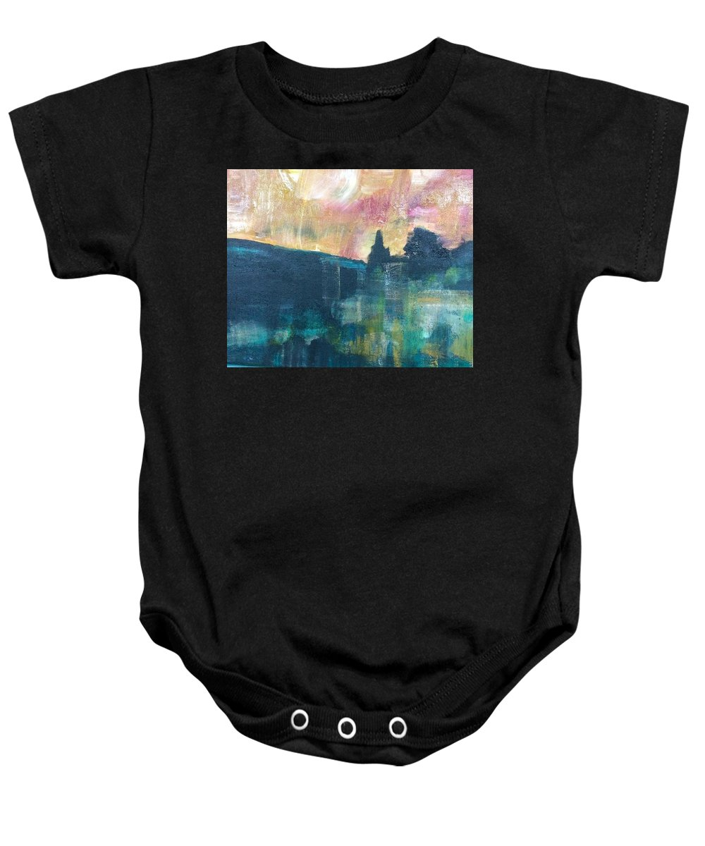 Earth Baby Onesie featuring the painting Elemental by Katy Flach