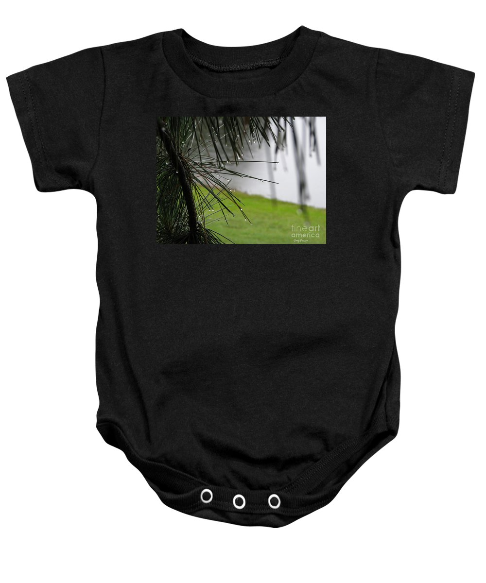 Lakes Baby Onesie featuring the photograph Elements by Greg Patzer