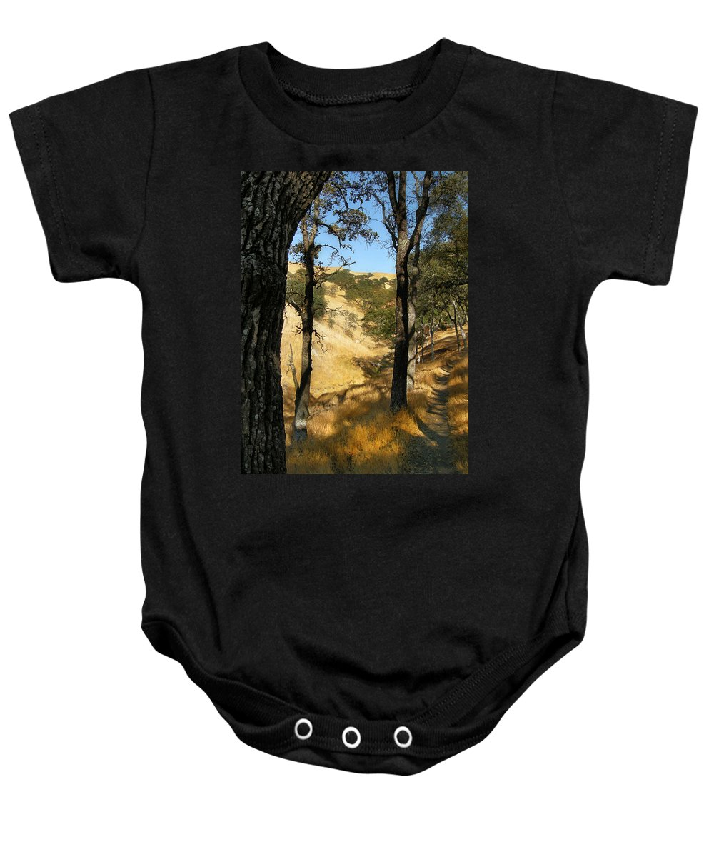 Landscape Baby Onesie featuring the photograph Elyon's Doorway by Karen W Meyer