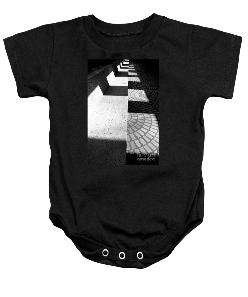 Cityscapes Baby Onesie featuring the photograph Embarcadero Bench by Norman Andrus