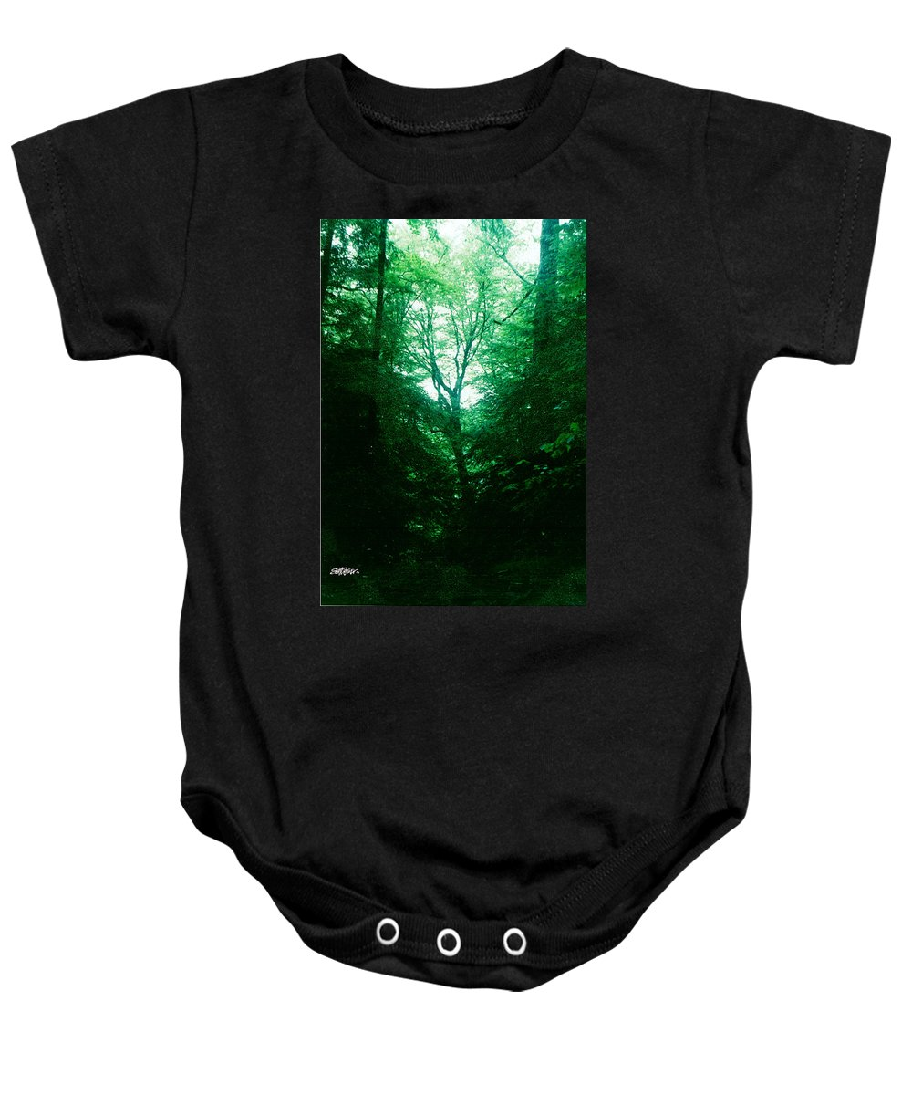 Emerald Baby Onesie featuring the photograph Emerald Glade by Seth Weaver