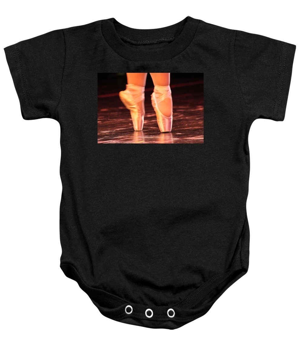 Ballet Baby Onesie featuring the photograph En Pointe by Lauri Novak