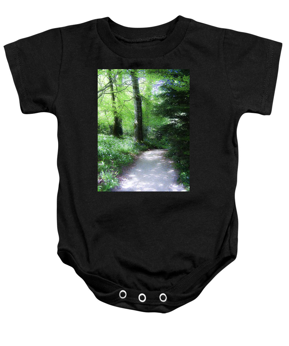 Ireland Baby Onesie featuring the photograph Enchanted Forest At Blarney Castle Ireland by Teresa Mucha