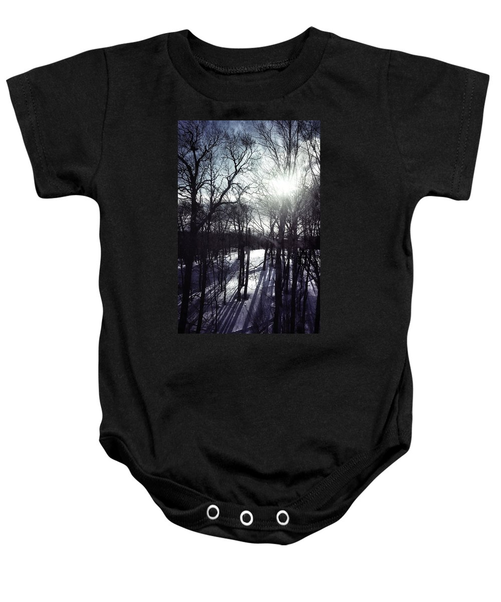 Keweenaw Baby Onesie featuring the photograph End Of Season by Scott Wendt Tom Wierciak
