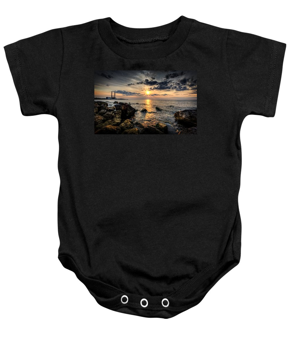 Sunset Baby Onesie featuring the photograph End Of The Day by Everet Regal