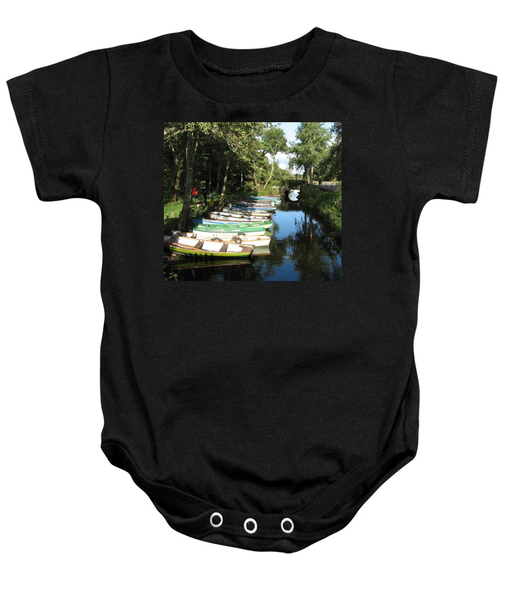 Boat Baby Onesie featuring the photograph End Of The Day by Kelly Mezzapelle