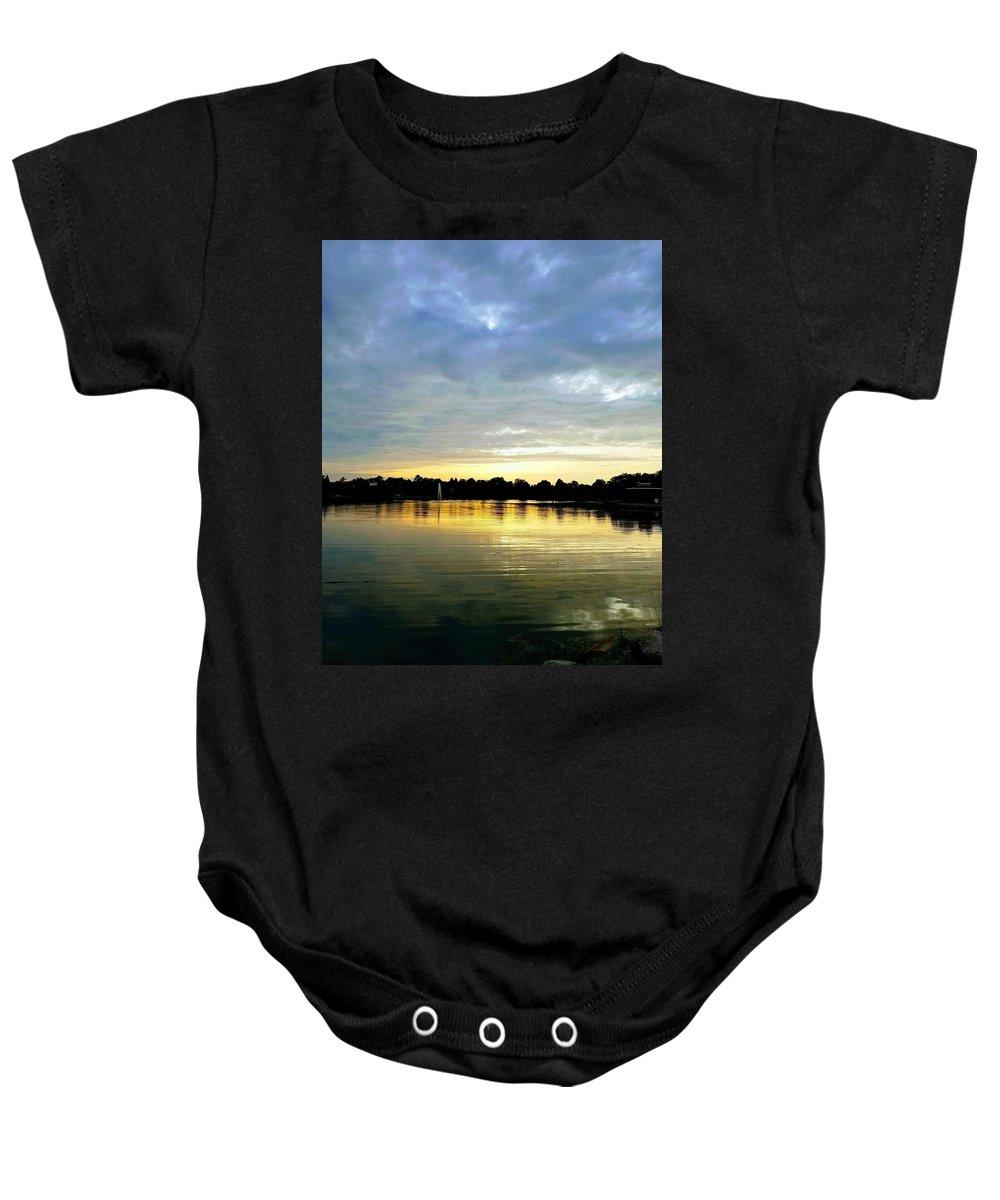 Edinboro Baby Onesie featuring the photograph Edinboro Lake by Michael Hills