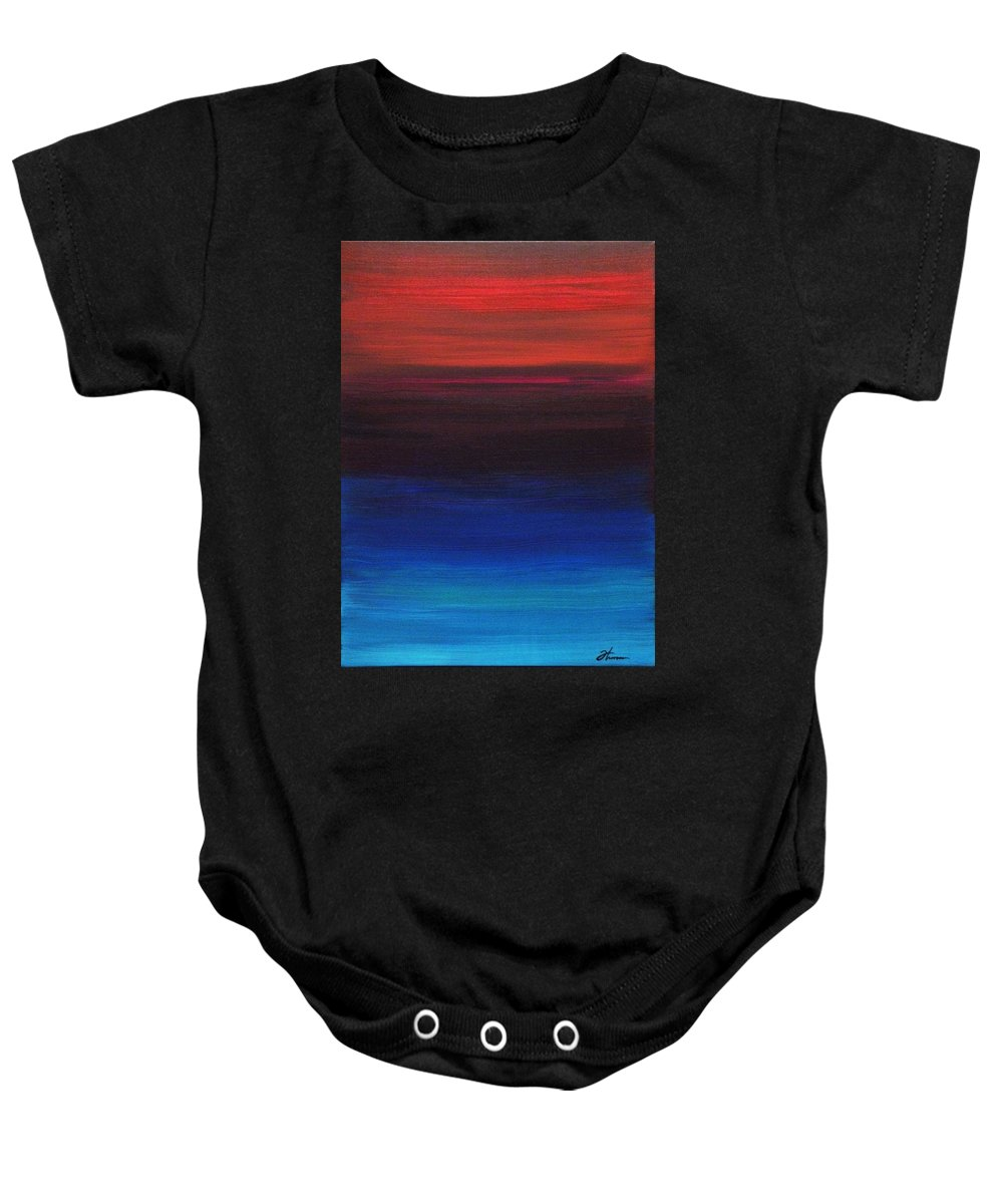 Original Baby Onesie featuring the painting Endless by Todd Hoover