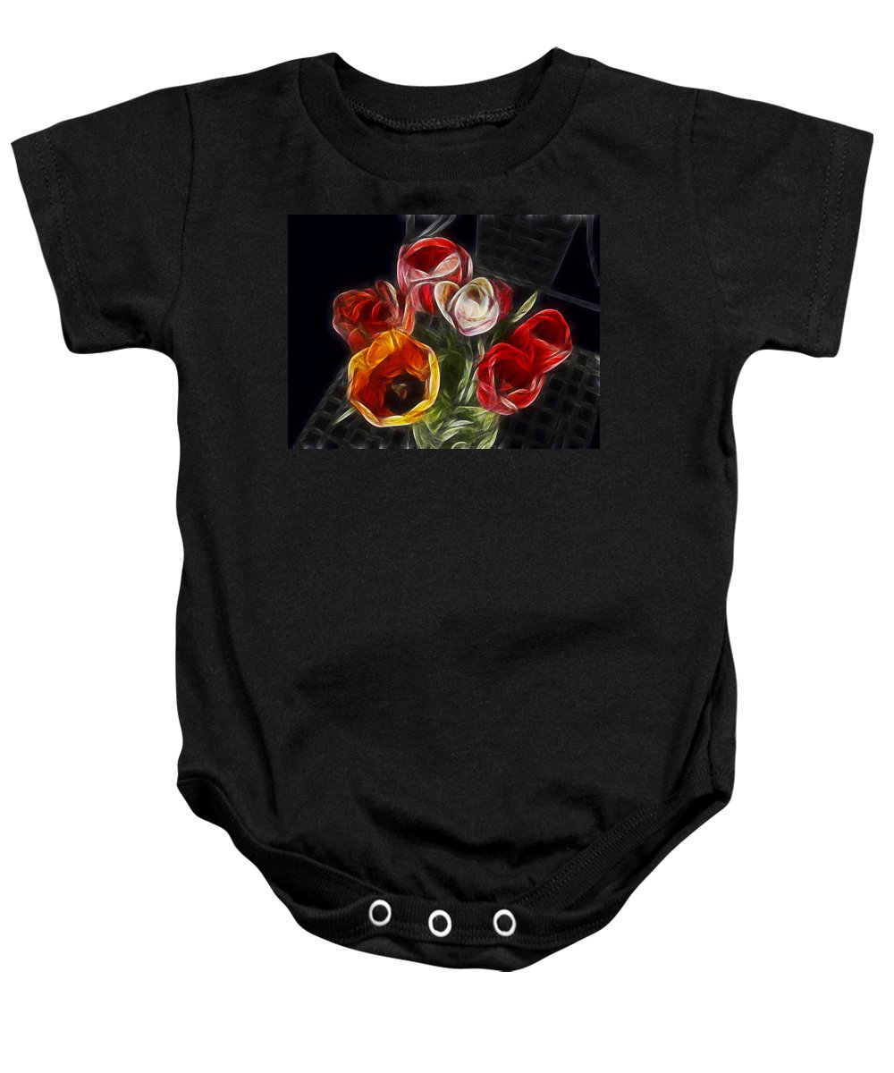 Tulip Baby Onesie featuring the photograph Energetic Tulips by Joachim G Pinkawa