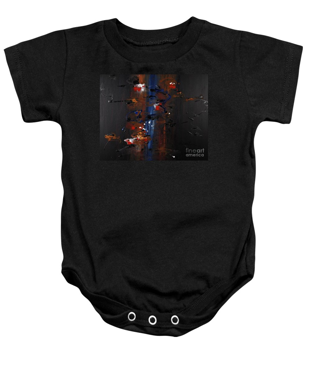 Black Baby Onesie featuring the painting Energy by Nadine Rippelmeyer