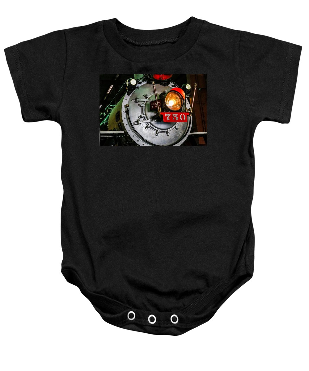 Antique Baby Onesie featuring the photograph Engine 750 by Darryl Brooks