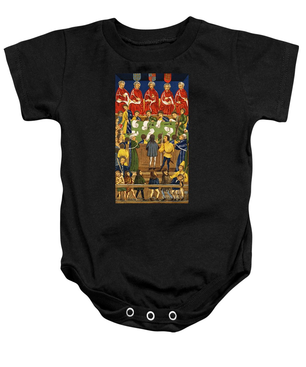Baby Onesie featuring the painting England: Court, 15th Century by Granger