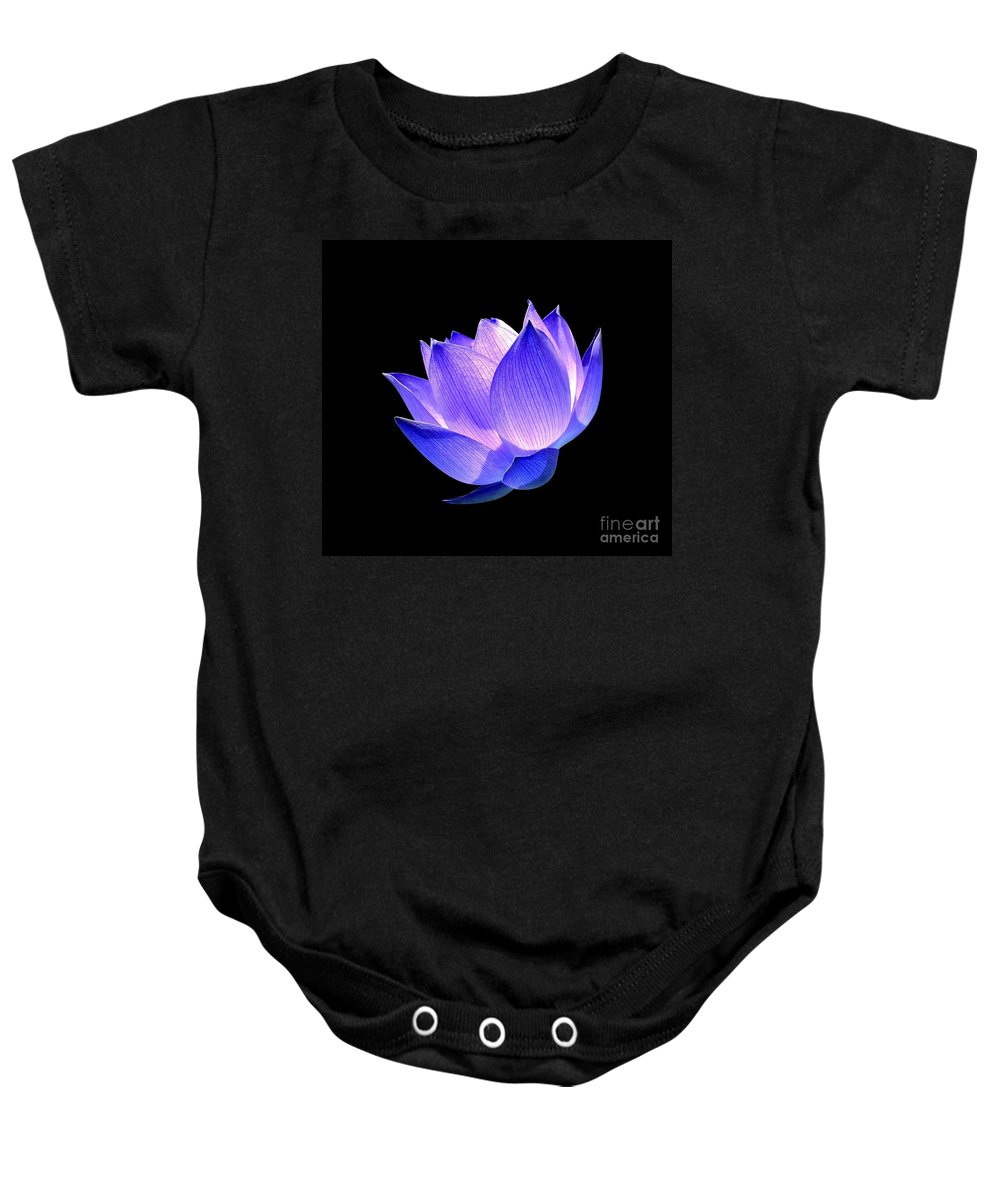 Flower Baby Onesie featuring the photograph Enlightened by Jacky Gerritsen