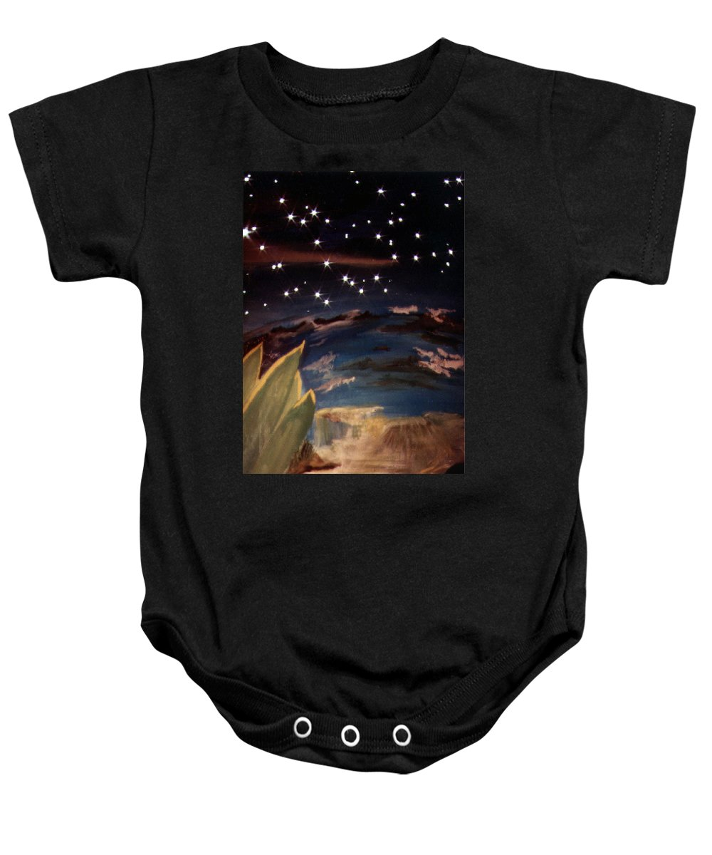 Surreal Baby Onesie featuring the painting Enter my dream by Steve Karol