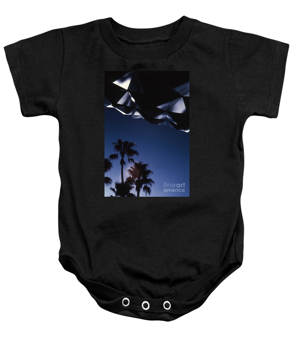 Epcot Baby Onesie featuring the photograph Epcot Abstract by Richard Rizzo