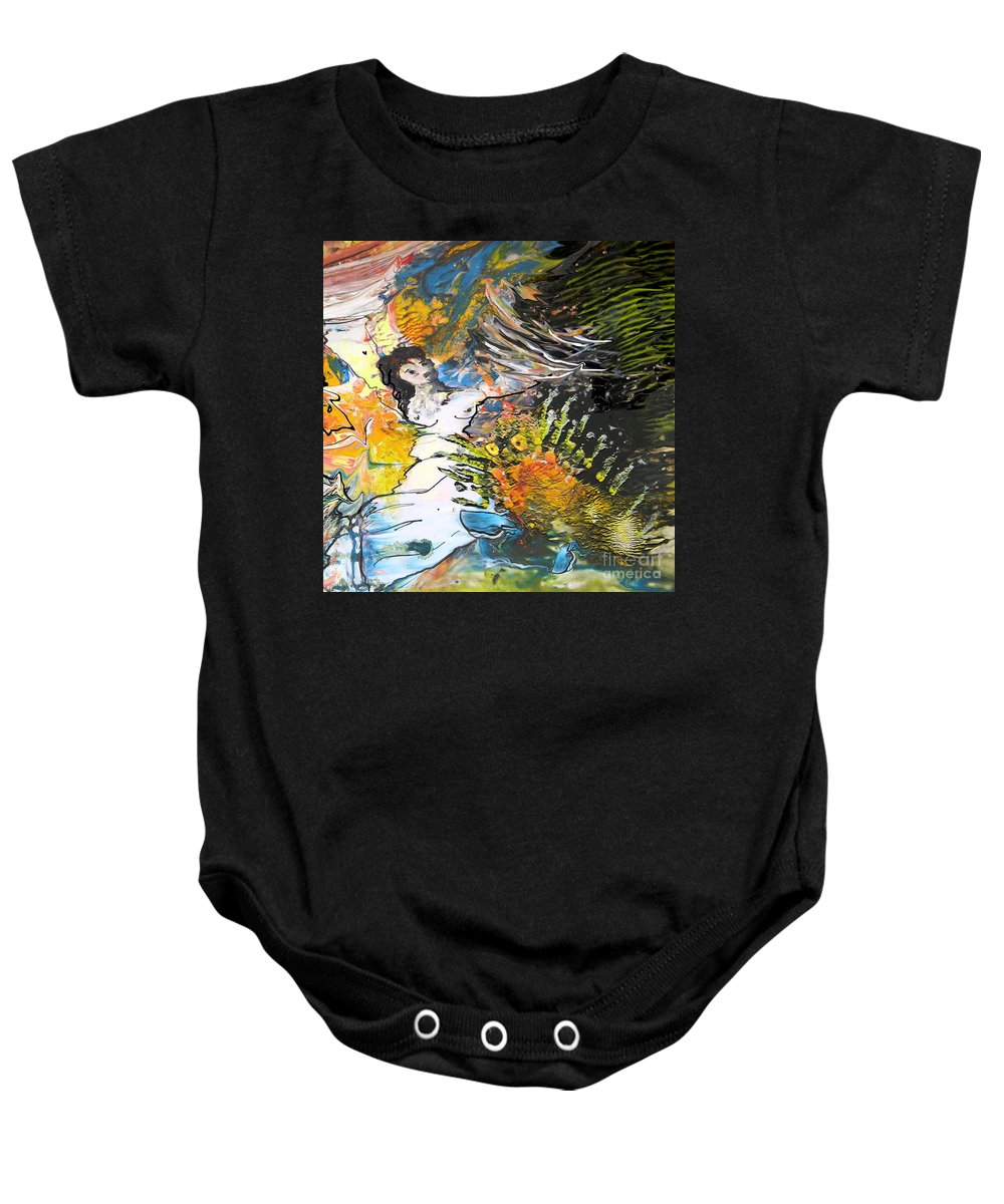 Miki Baby Onesie featuring the painting Erotype 07 2 by Miki De Goodaboom