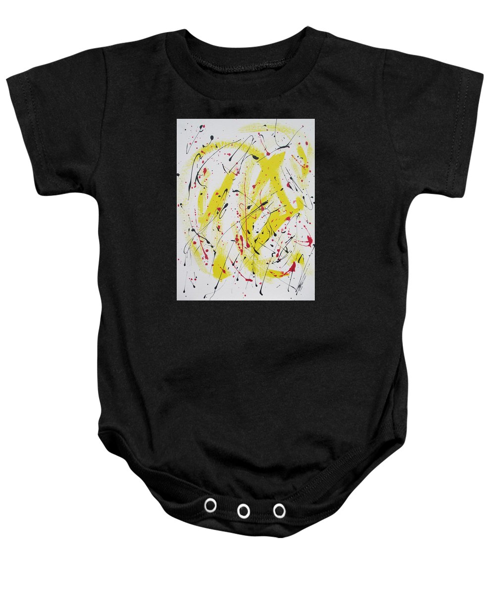 Eruption Baby Onesie featuring the painting Eruption by Arlene Wright-Correll
