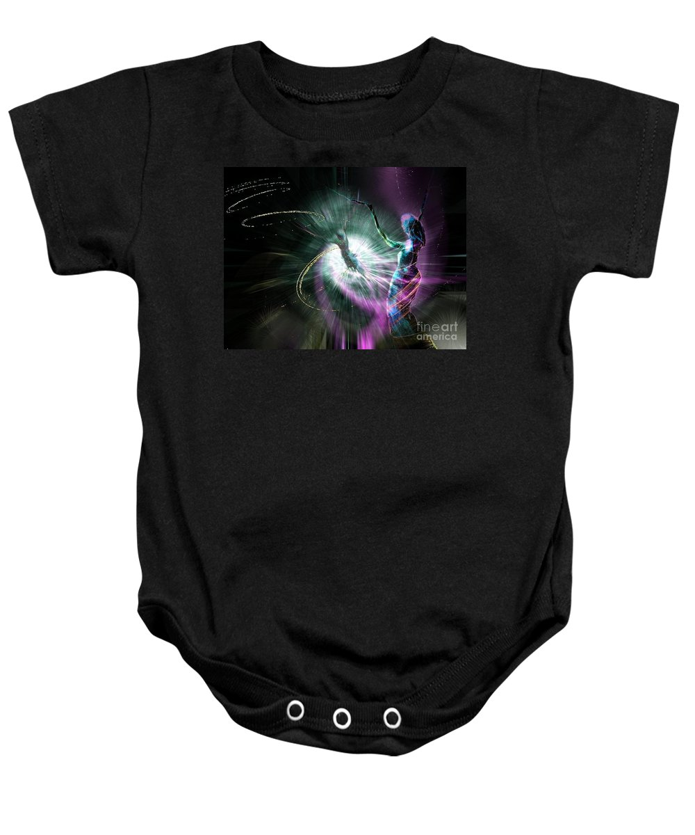 Nature Painting Baby Onesie featuring the painting Eternel Feminin 02 by Miki De Goodaboom